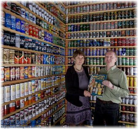 Ник Уэст из Англии умудрился собрать почти 7 тысяч банок пива за 35 лет.