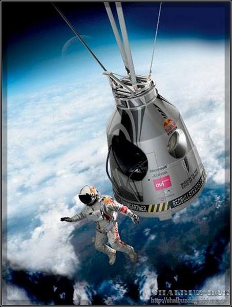 Рекордный прыжок из стратосферы прошел успешно (онлайн)